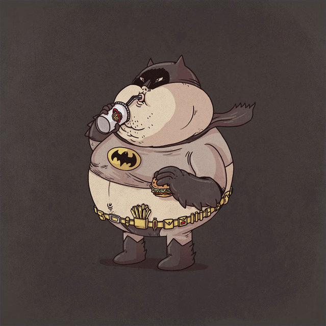Fat Pop Culture Characters By Alex Solis