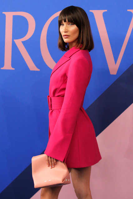 Model Bella Hadid attends the CFDA Fashion Awards in Manhattan, New York, U.S., June 5, 2017. (Photo by Andrew Kelly/Reuters)