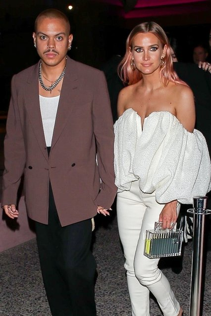 Ashlee Simpson and Evan Ross leave The Webster store opening in Beverly Hills, CA. on February 6, 2020. (Photo by Backgrid USA)