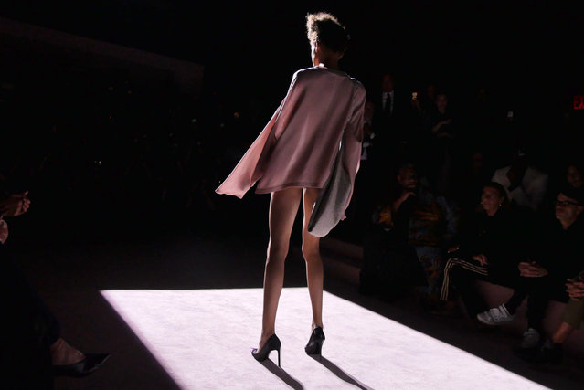 A model on the catwalk for the Tom Ford show at New York fashion week in New York, USA on September 6, 2017. (Photo by Swan Gallet/Shutterstock)