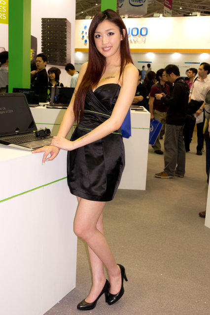 Asian Beauty: Hot Promotional Models in Taipei, Taiwan. Computex Taipei 2011