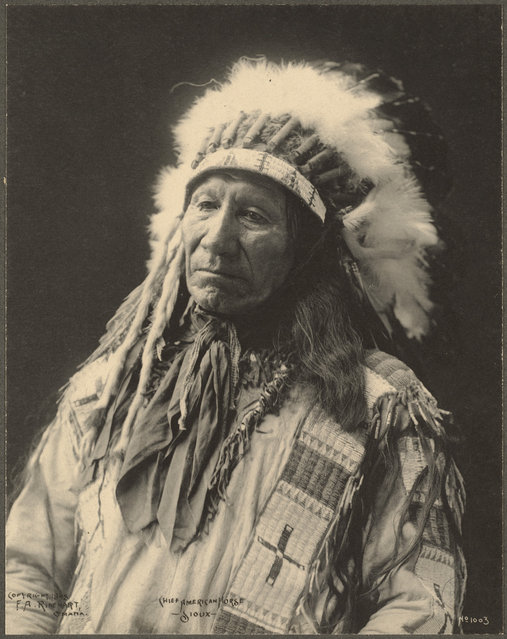 Chief American Horse, Sioux, 1899. (Photo by Frank A. Rinehart)