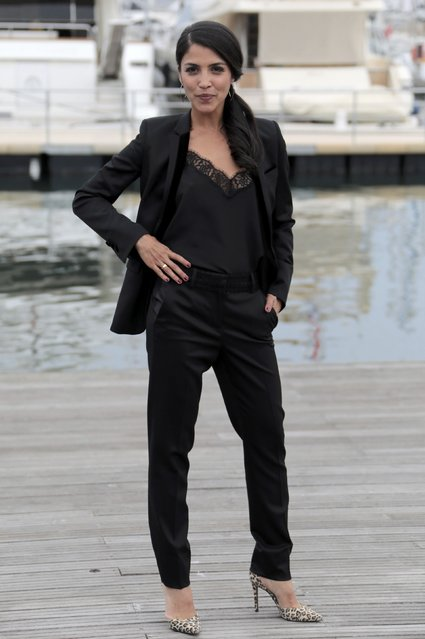 """Actress Nazneen Contractor poses during a photocall for the television series """"Ransom"""" during the annual MIPCOM television programme market in Cannes, France, October 17, 2016. (Photo by Eric Gaillard/Reuters)"""