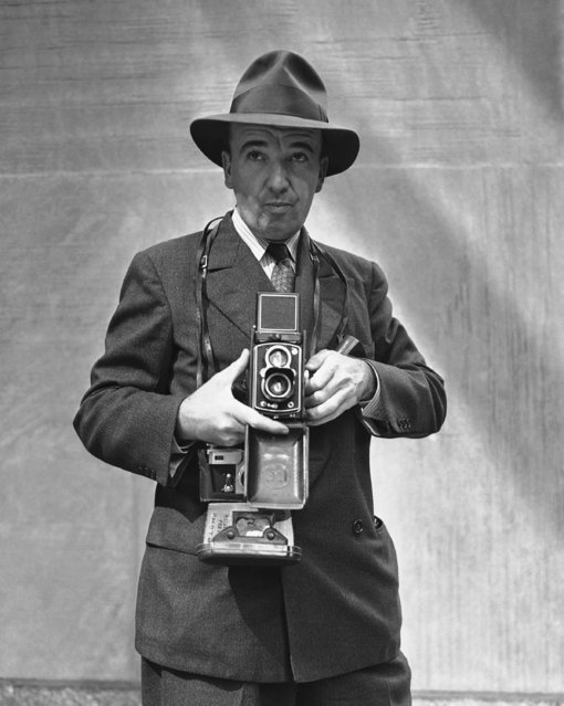 Associated Press staff photographer Frank Pappy Noel on January 20, 1942. Location is unknown. (Photo by AP Photo)