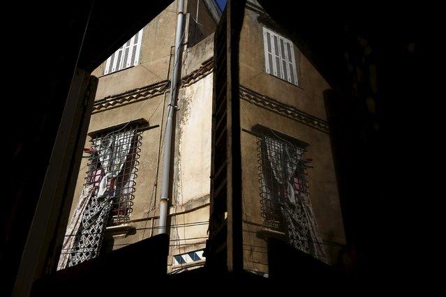 Moorish-style windows are seen in the old city of Algiers Al Casbah, Algeria December 13, 2015. (Photo by Zohra Bensemra/Reuters)
