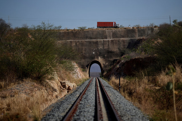 Part of the Transnordestina railway track passes through a tunnel in Brejo Santo, Ceara state, northeastern Brazil, October 29, 2016. (Photo by Ueslei Marcelino/Reuters)
