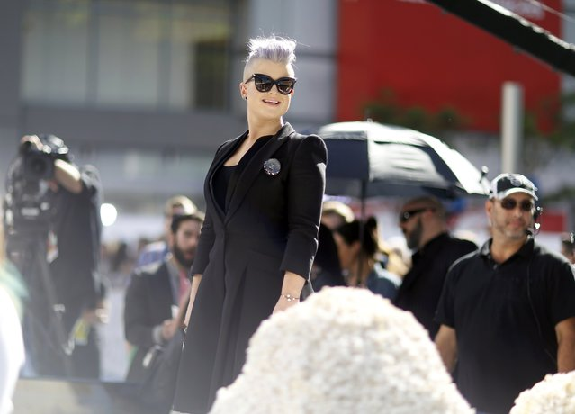 TV personality Kelly Osbourne arrives at the 2015 MTV Movie Awards in Los Angeles, California April 12, 2015. (Photo by Mario Anzuoni/Reuters)