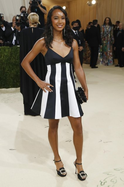 Canadian tennis player Leylah Annie Fernandez attends The 2021 Met Gala Celebrating In America: A Lexicon Of Fashion at Metropolitan Museum of Art on September 13, 2021 in New York City. (Photo by Mario Anzuoni/Reuters)