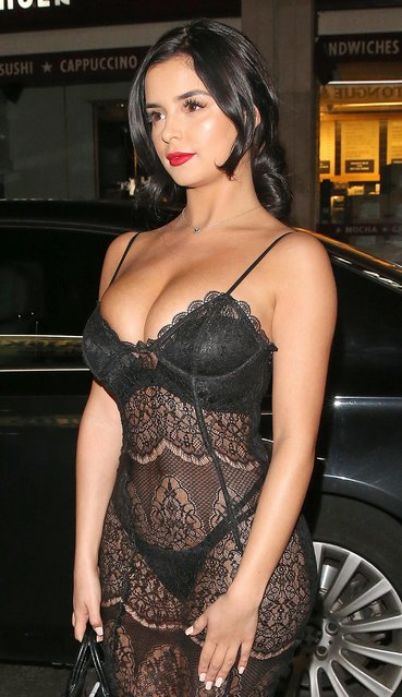 Demi Rose attends Sixty6 Magazine – issue two launch party at Paper club on March 22, 2017 in London, England. (Photo by Splash News and Pictures)