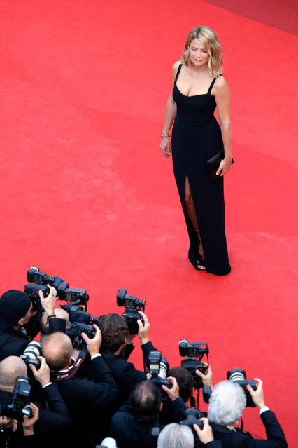 """Virginie Efira attends the """"Cafe Society"""" premiere and the Opening Night Gala during the 69th annual Cannes Film Festival at the Palais des Festivals on May 11, 2016 in Cannes, France. (Photo by Pool/Getty Images)"""
