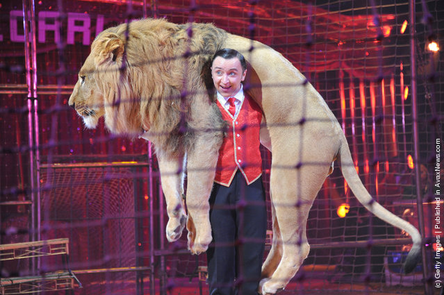 Vladislav Goncharov performs during the Monte-Carlo 36th International Circus Festival