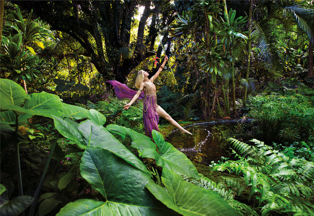 The photographer best known for his surreal celebrity portraits has teamed up with Lavazza to create their 2020 calendar. Shot in Hawaii, his shoot is a hymn to the relationship between humankind and the natural word. Here: Celebrate – January. (Photo by David LaChapelle/The Guardian)