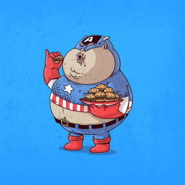 Fat Pop Culture Characters By Alex Solis