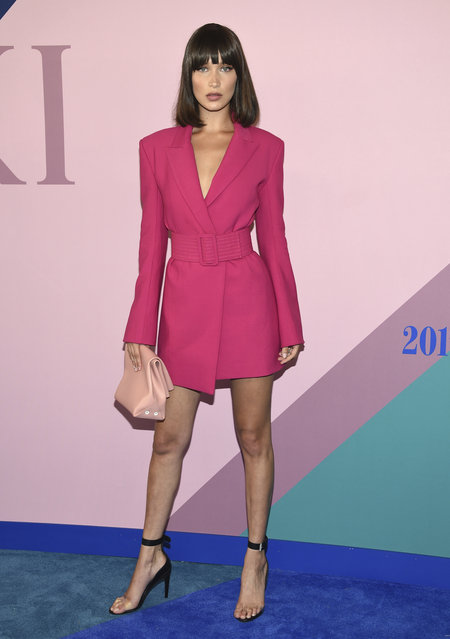 Bella Hadid attends the CFDA Fashion Awards at the Hammerstein Ballroom on Monday, June 5, 2017, in New York. (Photo by Evan Agostini/Invision/AP Photo)