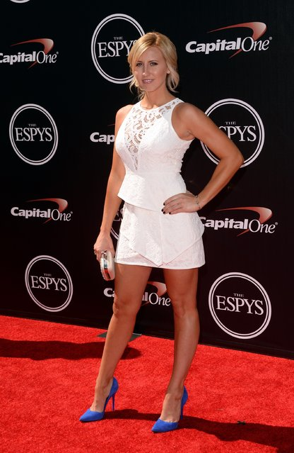Funny car drag racer Courtney Force attends The 2014 ESPYS at Nokia Theatre L.A. Live on July 16, 2014 in Los Angeles, California. (Photo by Jason Merritt/Getty Images)