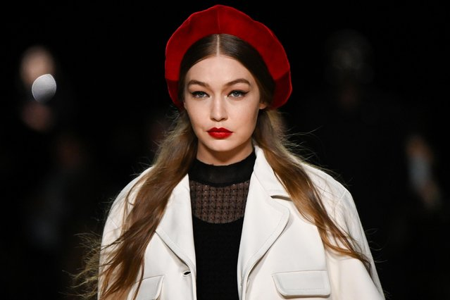 Model Gigi Hadid presents a creation from the Marc Jacobs Fall/Winter 2020 collection during New York Fashion Week in New York, U.S., February 12, 2020. (Photo by Idris Solomon/Reuters)