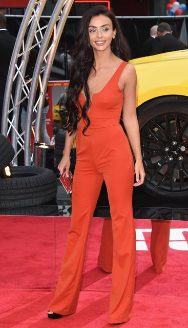 """UK Love Island star Kady McDermott arriving at the """"Logan Lucky"""" UK premiere held at Vue West End on August 21, 2017 in London, England. (Photo by Stuart C. Wilson/Getty Images)"""