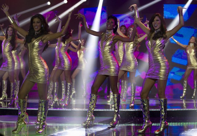 Contestants take part in the Miss Venezuela 2012 pageant in Caracas August 30, 2012. The winner of the competition will participate in the 2013 Miss Universe pageant. (Photo by Carlos Garcia Rawlins/Reuters)