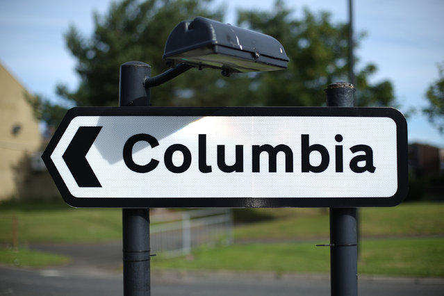 A road sign points the way on August 7, 2013 in Colombia, England. The name Columbia was given to the village in the county of Tyne and Wear to replace a confusing numbered district system and for it's proximity to Washington. (Photo by Peter Macdiarmid/Getty Images)