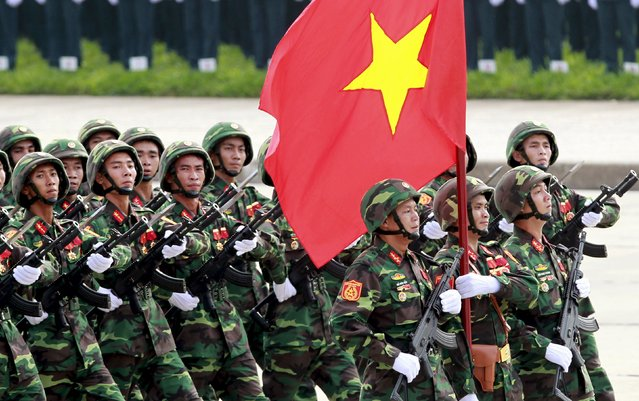 Vietnamese special forces soldiers march during a parade marking their 70th National Day at Ba Dinh square in Hanoi, Vietnam, September 2, 2015. (Photo by Reuters/Kham)