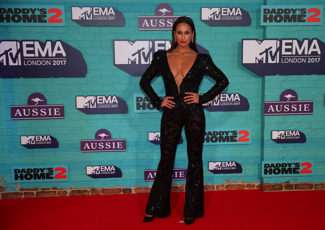 Portuguese actress Rita Pereira arrives at the 2017 MTV Europe Music Awards at Wembley Arena in London, Britain, November 12, 2017. (Photo by Hannah McKay/Reuters)