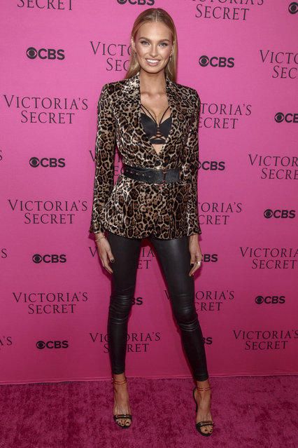 Romee Strijd attends the Victoria's Secret fashion show viewing party at Spring Studios on Tuesday, November 28, 2017, in New York. (Photo by Andy Kropa/Invision/AP Photo)
