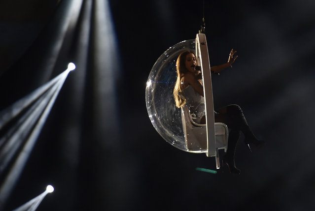 Singer Ariana Grande performs during the 2014 MTV Europe Music Awards at the SSE Hydro Arena in Glasgow. (Photo by Toby Melville/Reuters)