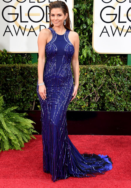TV Personality Maria Menounos attends the 72nd Annual Golden Globe Awards at The Beverly Hilton Hotel on January 11, 2015 in Beverly Hills, California. (Photo by Jason Merritt/Getty Images)