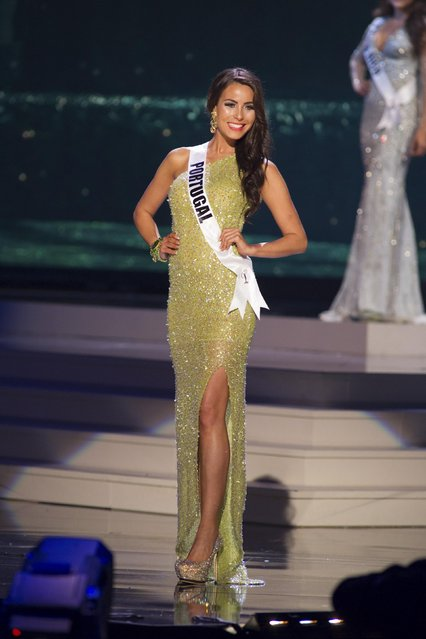 Patricia da Silva, Miss Portugal 2014 competes on stage in her evening gown during the Miss Universe Preliminary Show in Miami, Florida in this January 21, 2015 handout photo. (Photo by Reuters/Miss Universe Organization)