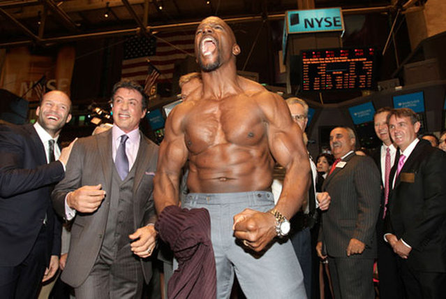 Terry Crews Rips Off His Shirt For  New York Stock Exchange