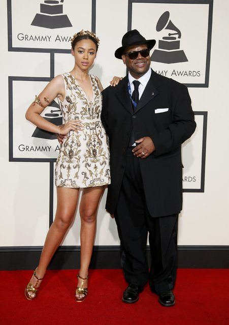 Producer Jimmy Jam and Bella Harris arrive at the 58th Grammy Awards in Los Angeles, California February 15, 2016. (Photo by Danny Moloshok/Reuters)