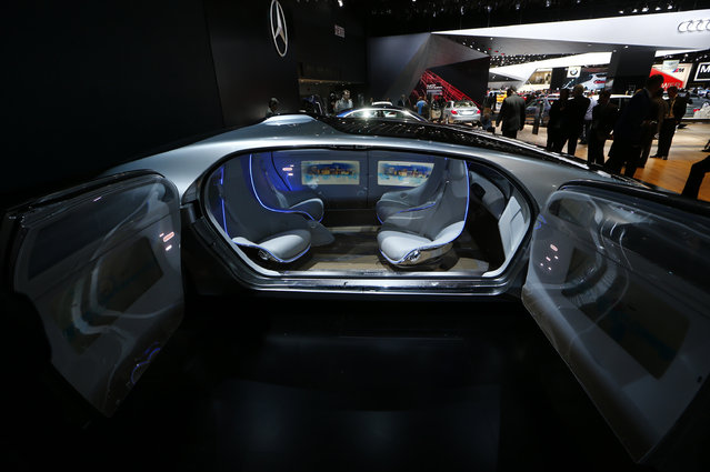 View of the seating area on the Mercedes Benz F015 Luxury in Motion concept on display during the second press day of the North American International Auto Show in Detroit Tuesday, January 13, 2015. (Photo by Mark Blinch/Reuters)