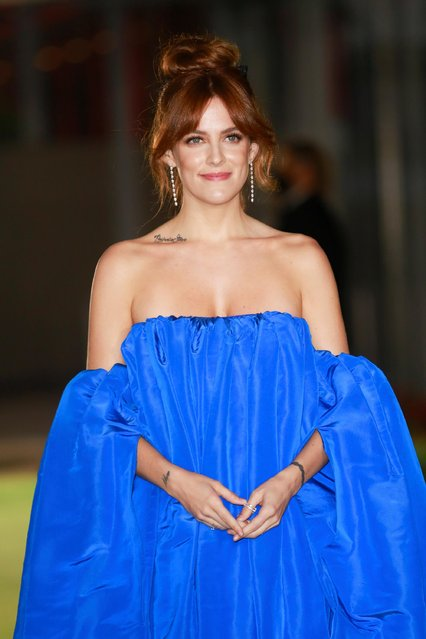 American actress Riley Keough attends the Academy Museum of Motion Pictures gala in Los Angeles, California, U.S., September 25, 2021. (Photo by Ringo Chiu/Reuters)