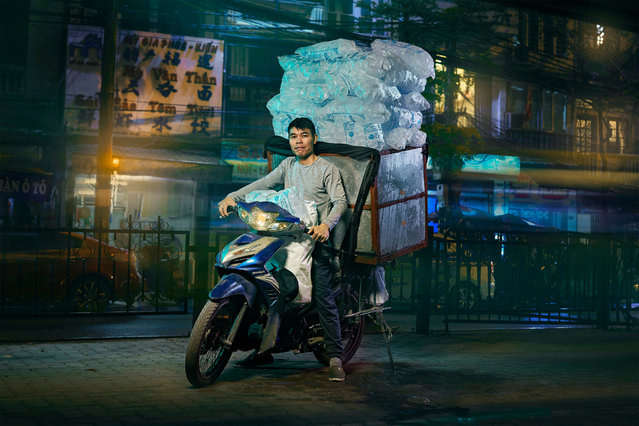"Ice. ""These motorbikes allow small businesses to operate"", he says. ""It's hard to imagine what the city will look and feel like without them"". (Photo by Jon Enoch/The Guardian)"