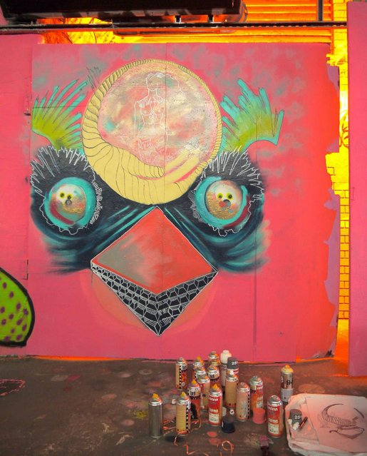 Caris Knight's bird mural. (Photo by Dez Mighty/Susan Mackey)