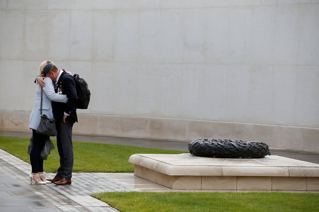 People visit the National Memorial Arboretum on the 75th anniversary of D-Day, in Staffordshire, Britain on June 6, 2019. (Photo by Andrew Yates/Reuters)