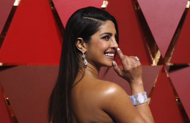 Actress Priyanka Chopra arrives at the 89th Annual Academy Awards at Hollywood & Highland Center on February 26, 2017 in Hollywood, California. (Photo by Mario Anzuoni/Reuters)