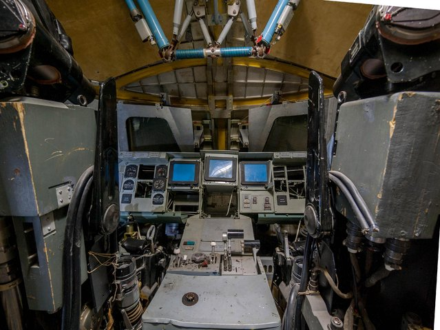 The once state-of-the-art cockpit has had better days. (Photo by Ralph Mirebs/Exclusivepix Media)