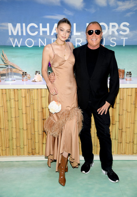 Michael Kors & Gigi Hadid bring Fantasy Island to NYC for the launch of the latest Wonderlust Fragrance Campaign on July 16, 2019 in New York City. (Photo by Dimitrios Kambouris/Getty Images  for Michael Kors)