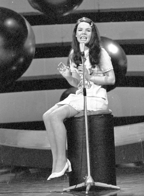 "In this March 21, 1970 file photo, Ireland's  entrant Dana sings the winning song ""All Kinds of Everything"" in the Eurovision Song Contest, in Amsterdam, Netherlands. The song would become a worldwide hit and helped launch Dana to stardom. She then went into politics joining the European Parliament . Dana even ran unsuccessfully  to be president of Ireland . It's not clear if anyone at this year's event in the Swedish capital of Stockholm has similar ambitions. (Photo by AP Photo)"