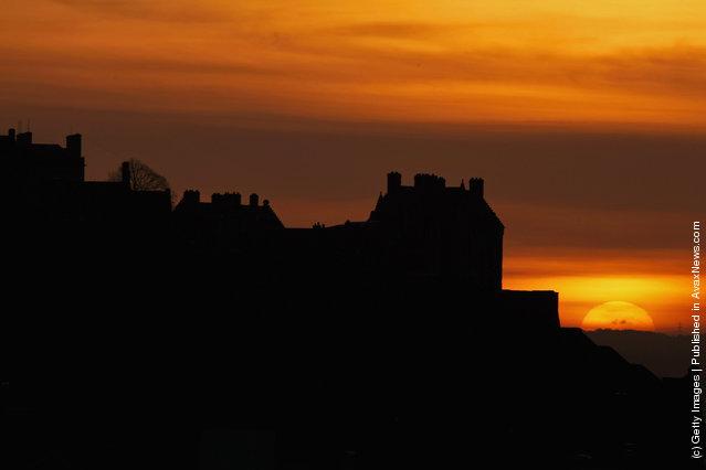 A general view of Edinburgh Castle