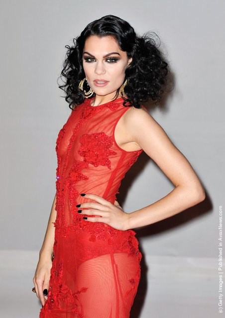 Singer Jessie J attends The BRIT Awards 2012 at the O2 Arena