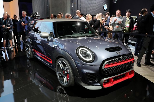 A 2020 Mini John Cooper Works GP is displayed at the LA Auto Show in Los Angeles, California, U.S., November 20, 2019. (Photo by Lucy Nicholson/Reuters)