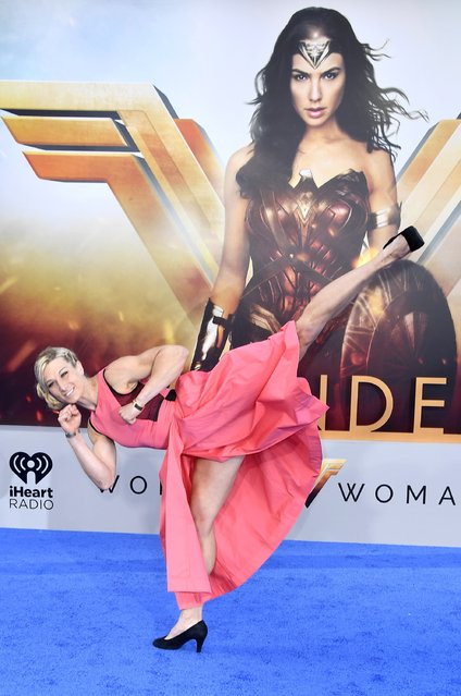 """TV Personality Jessie Graff arrives at the Premiere of Warner Bros. Pictures' """"Wonder Woman"""" at the Pantages Theatre on May 25, 2017 in Hollywood, California. (Photo by Frazer Harrison/Getty Images)"""