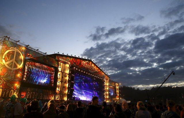 A general view of the main stage is seen during the 21st Woodstock Festival in Kostrzyn-upon-Odra, Poland July 31, 2015. (Photo by Kacper Pempel/Reuters)