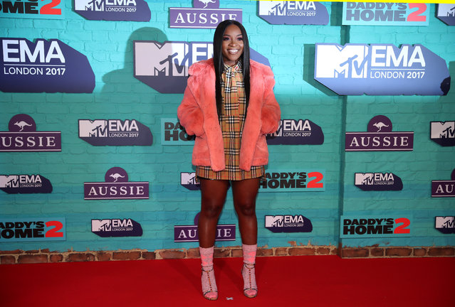 British singer Ray BLK arrives at the 2017 MTV Europe Music Awards at Wembley Arena in London, Britain, November 12, 2017. (Photo by Hannah McKay/Reuters)