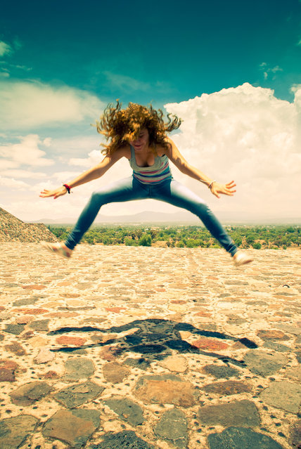"""Jumpology"". ""...just having lots of fun!"". (Photo by Giulia Fiori)"
