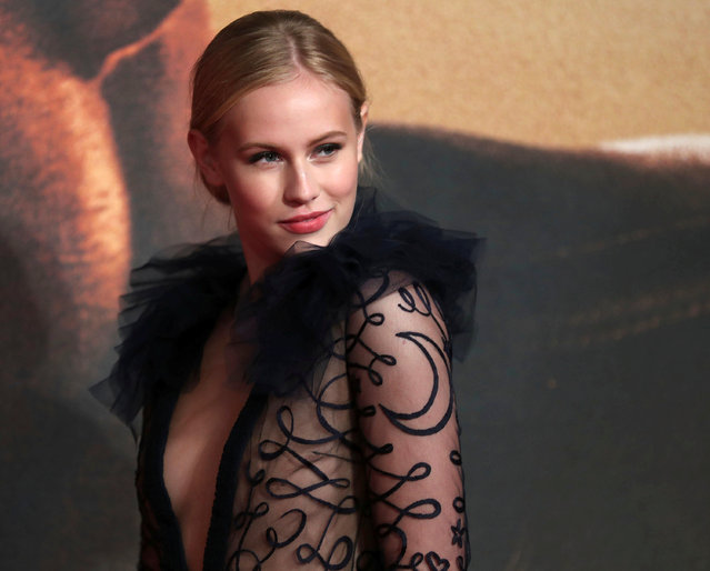 """Danika Yarosh poses as she arrives for the European premiere of the film """"Jack Reacher: Never Go Back"""" at Leicester Square in London, Britain October 20, 2016. (Photo by Eddie Keogh/Reuters)"""