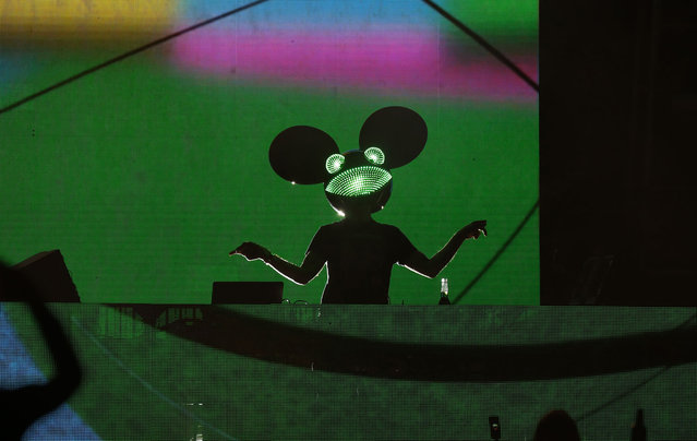 DJ/producer Deadmau5 performs at the Downtown Las Vegas Events Center on May 21, 2021 in Las Vegas, Nevada. (Photo by Gabe Ginsberg/Getty Images)