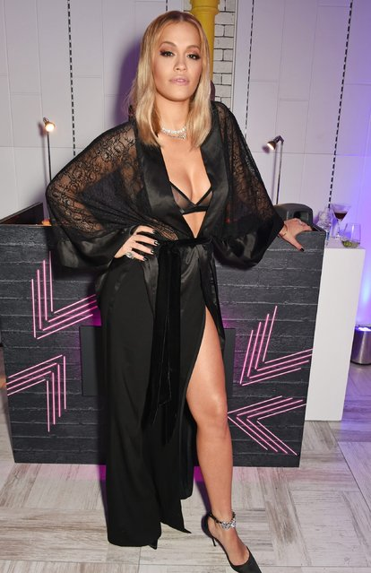 Rita Ora performs an intimate gig at the newly relaunched Tezenis store at Oxford Circus crossing to celebrate her recent lingerie collaboration with Tezenis on December 13, 2016 in London, England (Photo by David M. Benett/Dave Benett/Getty Images for Tezenis)